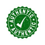 Authentic Grunge Stamp with Tick royalty free illustration