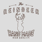 Authentic hipster logotype with reindeer and arrows.  Stock Image
