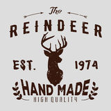 Authentic hipster logotype with reindeer and arrows.  Royalty Free Stock Photos