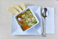 Home-made Chicken Noodle Soup 3 Stock Photography