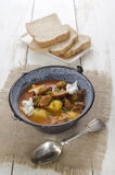 Authentic hungarian goulash in a kettle Stock Photo