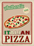 Authentic Italian Pizza retro poster Royalty Free Stock Photos