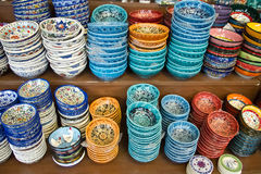 Authentic Iznik tile work bowls Royalty Free Stock Image
