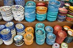 Authentic Iznik tile work bowls Royalty Free Stock Image