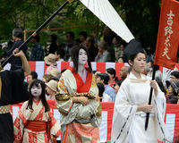 Authentic Kimono costume at Jidai Matsuri parade, Japan. Stock Photography