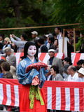 Authentic Kimono costume at Jidai Matsuri parade, Japan. Royalty Free Stock Image