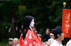 Authentic Kimono costume at Jidai Matsuri parade, Japan. Stock Images