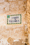 Majorca Street tiled street sign Stock Photos