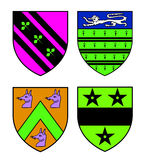 Authentic medieval heraldry shields Stock Image