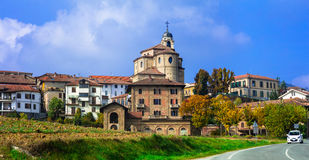 Authentic medieval village Bubbio in Piedmont region of Italy Stock Photography