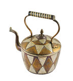 Authentic metal teapot vessel isolated Royalty Free Stock Photography
