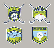 Authentic Modern Golf Sport Badge Logo Design Stock Images