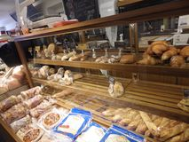 Authentic montreal bakery in a not well known area of town royalty free stock photo