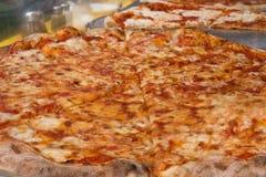 NYC Pizza. Authentic New York City Italian style pizzeria pizza pie Royalty Free Stock Photos
