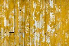 Authentic, old boards from the wall of a fishing cottage. Royalty Free Stock Photos