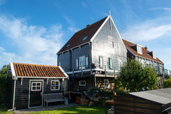 Authentic old house in Marken bathing in the morning sunlight Stock Photo