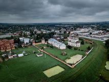 Authentic old Russian town Yuryev-Polsky. Kremlin in ancient russian town Yuryev-Polsky royalty free stock images