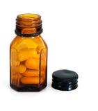 Authentic, old unused pills, pharmaceuticals Stock Photos