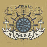 Authentic Pacific stamp Stock Photo