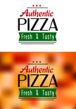 Authentic pizza labels Royalty Free Stock Image