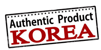 Authentic product Korea Royalty Free Stock Photos