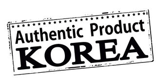 Authentic product Korea Stock Photo