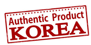 Authentic product Korea Royalty Free Stock Photo