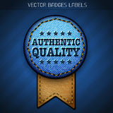Authentic quality label Stock Photo