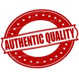 Authentic quality. Stamp with text authentic quality inside,  ilustration Royalty Free Stock Image