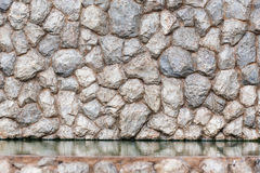 Authentic rock decorative wall background stock images