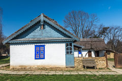 Authentic Romanian village house built with natural bio materials. And ancient techniques in traditional architecture Royalty Free Stock Image