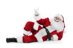 Authentic Santa Claus lying Stock Photos