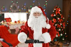 Authentic Santa Claus in traditional costume. Indoors stock photography