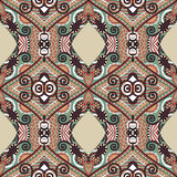 Authentic seamless floral geometric pattern, ethnic ukrainian ca Stock Photos