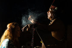 Authentic Shaman Ceremony Royalty Free Stock Images
