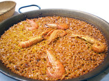 Authentic  shellfish paella from Valencia Stock Image