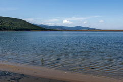 Authentic shore at Rabisha  lake near by Magura cave Stock Images