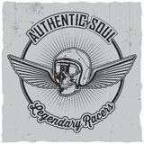 Authentic Soul Legendary Racers Poster Royalty Free Stock Images