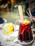 An authentic Spanish pitcher of sangria drink Stock Images