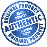 Authentic stamp. Isolated on white royalty free illustration