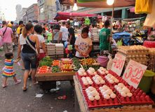 Authentic street market at Chinatown in Manila stock photo