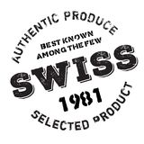 Authentic swiss product stamp Royalty Free Stock Photos