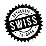 Authentic swiss product stamp Stock Photography