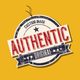 Authentic tag. Authentic original product tag Royalty Free Stock Images