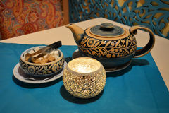 Authentic tea set Royalty Free Stock Photo