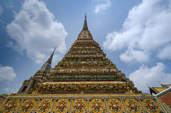 Authentic Thai Architecture in Wat Pho Royalty Free Stock Photography