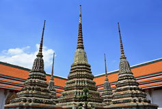 Authentic Thai Architecture in Wat Pho at Bangkok of Thailand Stock Photography