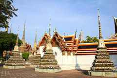 Authentic Thai Architecture in Wat Pho Royalty Free Stock Photos
