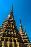 Authentic Thai Architecture in Wat Pho at Bangkok of Thailand Royalty Free Stock Images