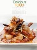 Authentic thai cuisine with decoration Stock Images